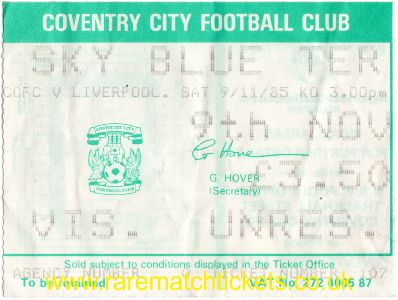 1985-86 div1 m16 COVENTRY CITY 0 [LIVERPOOL] 3